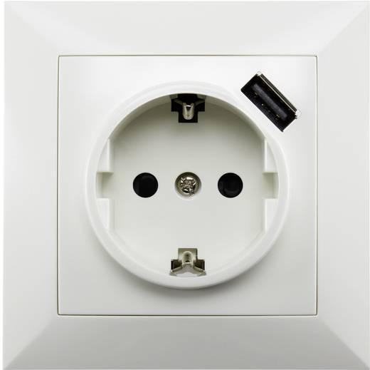 Falba süllyesztett konnektor aljzat USB töltővel, Basetech