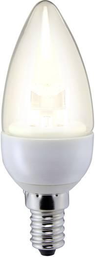 LED-es fényforrás Sygonix LED E14 4W=25W melegfehér, EEK: A+, gyertyaorma, áttetsző
