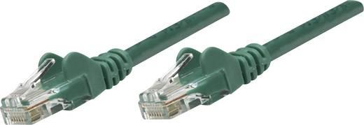 RJ45-ös patch kábel, hálózati LAN kábel CAT 5e SF/UTP [1x RJ45 dugó - 1x RJ45 dugó] 15 m Zöld Intellinet