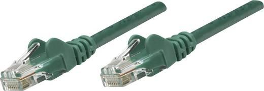 RJ45-ös patch kábel, hálózati LAN kábel CAT 5e U/UTP [1x RJ45 dugó - 1x RJ45 dugó] 0.50 m Zöld Intellinet