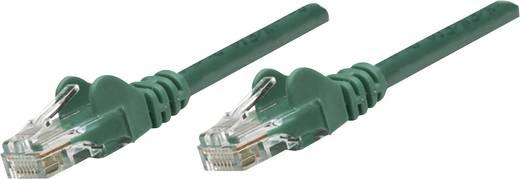 RJ45-ös patch kábel, hálózati LAN kábel CAT 5e U/UTP [1x RJ45 dugó - 1x RJ45 dugó] 7.50 m Zöld Intellinet