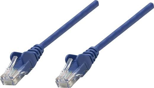 RJ45-ös patch kábel, hálózati LAN kábel CAT 5e U/UTP [1x RJ45 dugó - 1x RJ45 dugó] 15 m Kék Intellinet