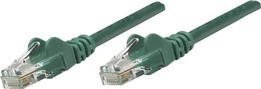 RJ45-ös patch kábel, hálózati LAN kábel CAT 6 U/UTP [1x RJ45 dugó - 1x RJ45 dugó] 10 m Zöld Intellinet