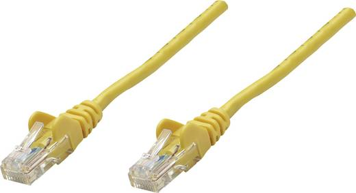 RJ45-ös patch kábel, hálózati LAN kábel CAT 6 U/UTP [1x RJ45 dugó - 1x RJ45 dugó] 10 m Sárga Intellinet