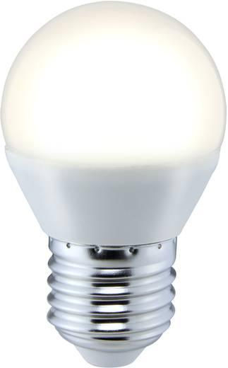 LED-es fényforrás Sygonix LED E27 5W=35W melegfehér cseppforma, matt