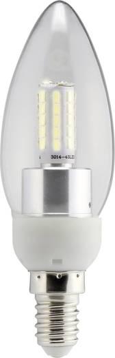 LED-es fényforrás Sygonix LED E14 4W=40W melegfehér gyertyaforma, áttetsző