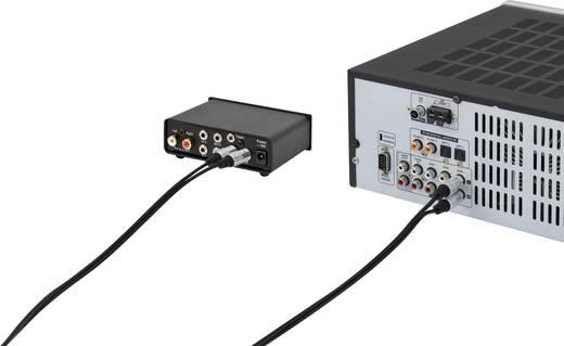 RCA audio kábel, 2x RCA dugó - 2x RCA dugó, 1,5 m, aranyozott, fekete, SuperSoft, SpeaKa Professional 1339668