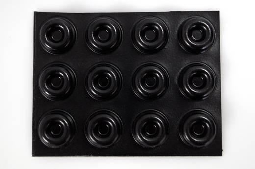 Bumpon elasztikus puffer készlet 2210SW12-C (Ø x Ma) 22.3 mm x 10.1 mm poliuretán fekete, Toolcraft