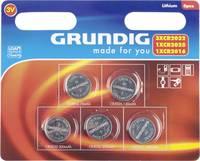 Lítium gombelem készlet, 5 db, Grundig 3xCR2032, 1xCR2025/CR2016 Grundig