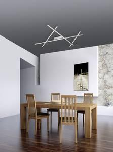 Paul Neuhaus Stick 2 8052-55 LED-es mennyezeti lámpa Acél 38 W Dimmelhető, Távirányítóval Paul Neuhaus