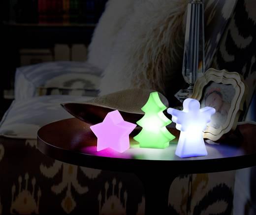 LED-es asztalidísz, csillag, elemes, Polarlite LBA-51-012 Fehér