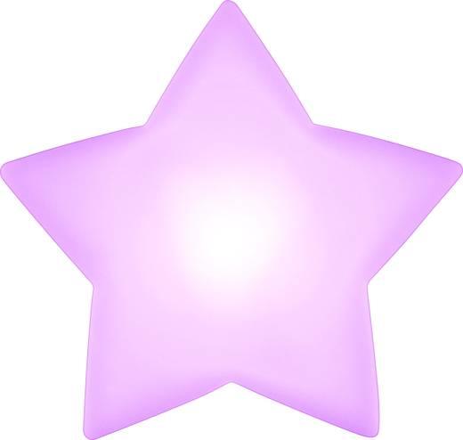 LED-es dekoráció, csillag, fehér, elemes, Polarlite LBA-51-012