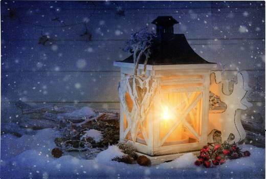 LED-es fali képdekoráció, karácsonyi lámpás, Polarlite LBA-55-001