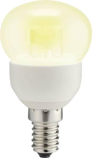LED izzó, csepp forma, 78 mm 230 V E14 4 W = 25 W melegfehér A+, sygonix