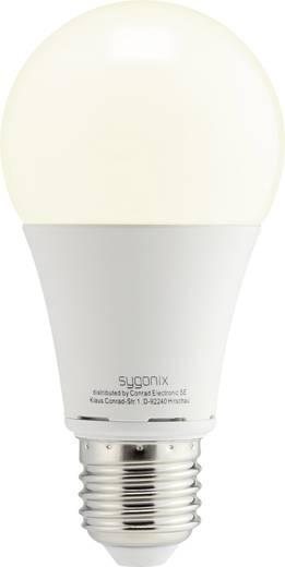 LED izzó, körte forma, 119 mm 230 V E27 9,5 W = 60 W melegfehér A+, 3 db, sygonix TLK-A60-806PM/ 3pc set