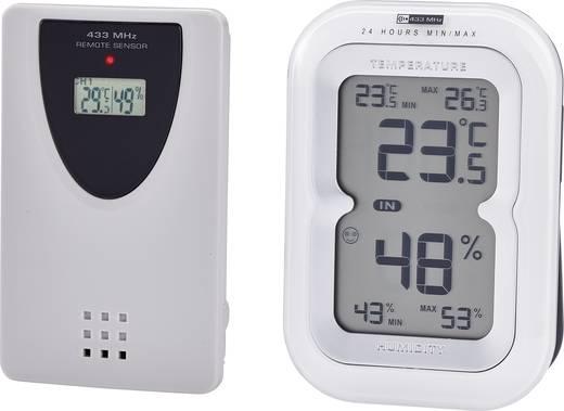 Vezeték nélküli külső-/belső hőmérő és páratartalom mérő, renkforce KW-9230TH