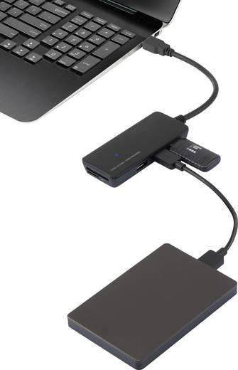 USB 3.0 hub SD kártyaolvasóval, 3 portos, Renkforce