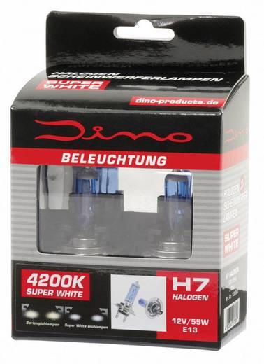 DINO Fényszóró lámpa Super-White XENON-Look H7 12 V 12 V 1 pár PX26d, kék