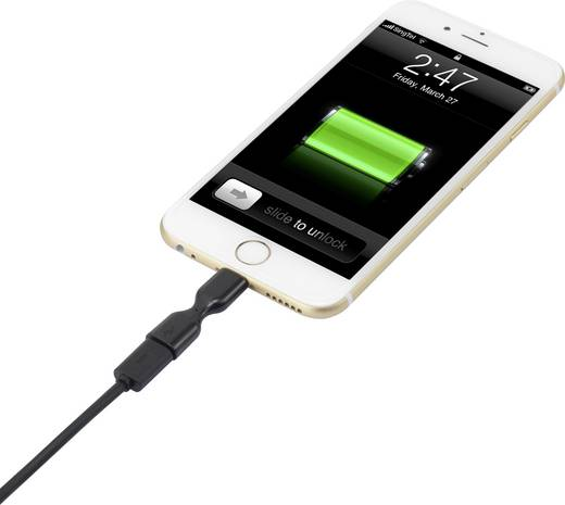 Apple iPhone iPod iPad Lightning - micro USB átalakító, gumiból Renkforce 1343311