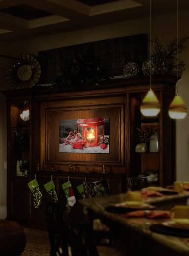 LED-es fali képdekoráció, karácsonyi lámpás, Polarlite LBA-55-003