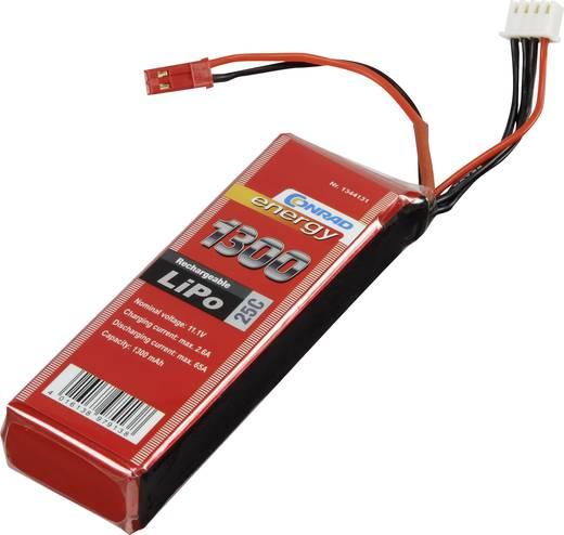 Akkucsomag, LiPo 11.1 V 1300 mAh 25 C Conrad energy BEC