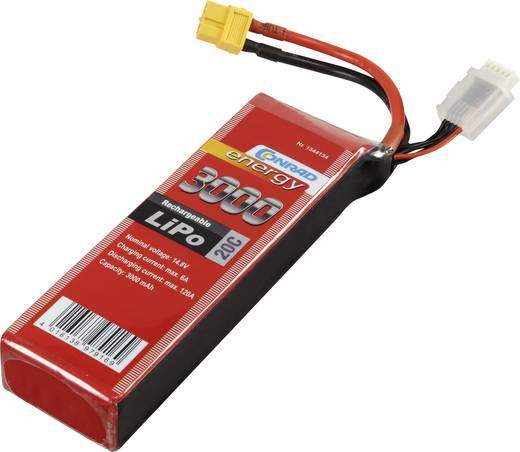 Modell akkupack, 14,8V 2400 mAh 20C Eco-Line LiPo akku, Conrad energy Stick XT60