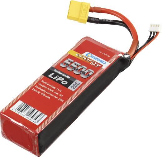 Akkucsomag, LiPo 11.1 V 5500 mAh 20 C Conrad energy XT90