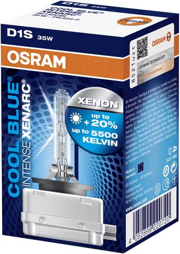 OSRAM XENARC® COOL BLUE® INTENSE D1S 85 12 V85 V PK32D (Ø) 9 mm