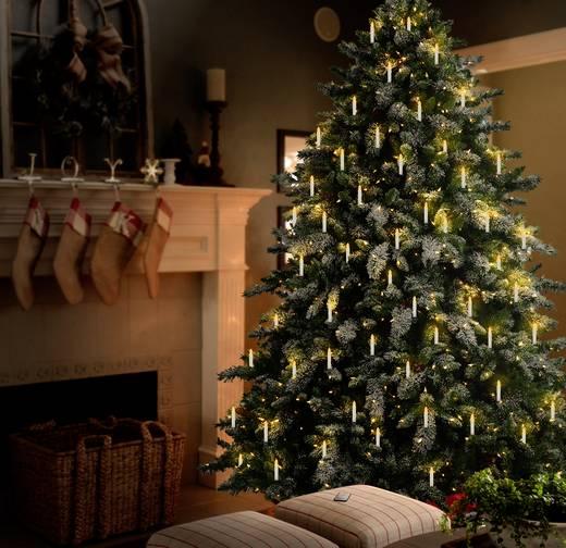 Vezeték nélküli karácsonyfa világítás, beltérre, 10 melegfehér LED-del, Polarlite