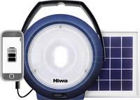 NIWA 350093 Multi 300 XL LED Kemping lámpa 300 lm Napenergiával üzemeltetett, USB-n keresztül üzemeltetett Kék NIWA