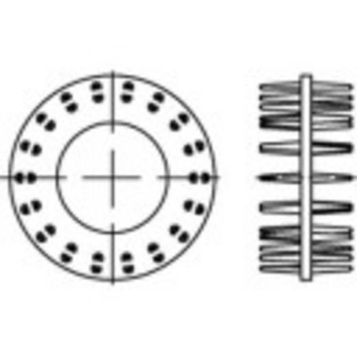 TOOLCRAFT Alátétek DIN 1052 Acél, elektrolitikusan horganyozott 50 db 135707