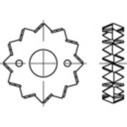 TOOLCRAFT Fa összekötő DIN 1052 Acéllemez, tűzihorganyozott 100 db 135730