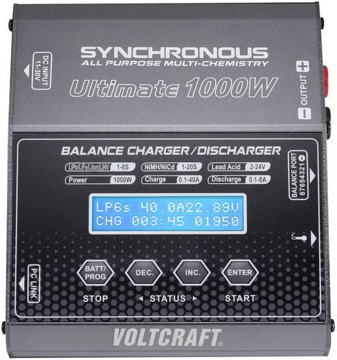 Modell multifunkciós töltő 12 V 40 A,1000W NiMH/NiCd/LiPolimer/Lítiumion/LiFe/Ólom, VOLTCRAFT Ultimate