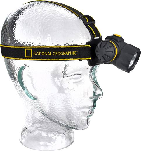 LED-es fejlámpa, elemes, 74 g, fekete, National Geographic 9082000