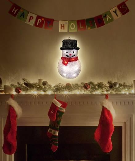 LED-es ablakdekoráció, hóember, elemes, Polarlite LBA-52-006