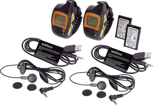 PMR adó-vevő készlet, csuklóra rögzíthető karóra és FM rádió funkcióval Renkforce 1359884