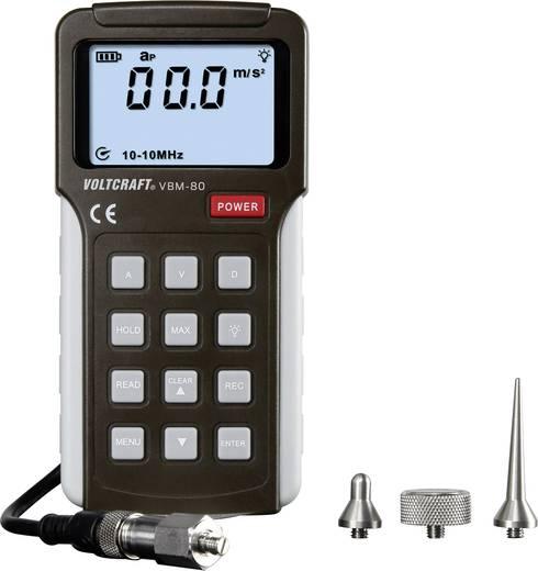 Lengésmérő, rezgésmérő, vibrációmérő készülék ±5 %0,01 - 19,99 c m/s, VOLTCRAFT VBM-80