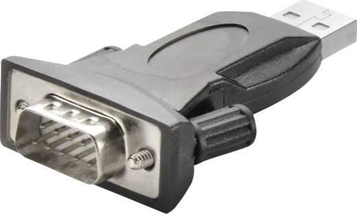 USB 2.0/Soros csatlakozókábel [1x USB 2.0 dugó A - 1x soros kábel 9 pol.] 1 m Fekete Renkforce