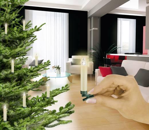 Vezeték nélküli karácsonyfára tehető gyertyák, beltéri, 6 LED, 9 cm, Krinner 7543