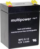 multipower MP2,9-12 A97275 Ólomakku 12 V 2.9 Ah Ólom-vlies (AGM) (Sz x Ma x Mé) 79 x 107 x 56 mm 4,8 mm-es laposérintkez multipower