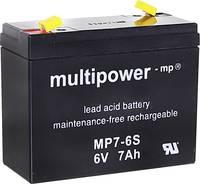 multipower MP7-6S 300402 Ólomakku 6 V 7 Ah Ólom-vlies (AGM) (Sz x Ma x Mé) 116 x 99 x 50 mm 4,8 mm-es laposérintkezős du (300402) multipower