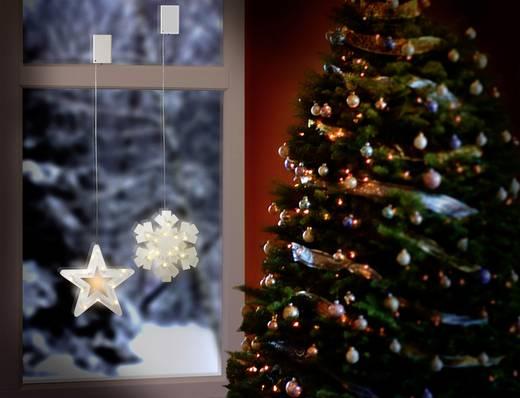 LED-es ablakdekoráció, csillag, elemes, Polarlite LBA-50-019