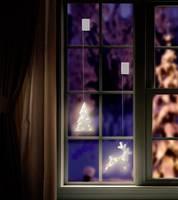 LED-es ablakdekoráció, fenyőfa, elemes, Polarlite LBA-50-020 (LBA-50-020) Polarlite