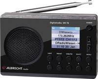 Albrecht DR 70 Koffer rádió DAB+, URH Zseblámpa Fekete Albrecht