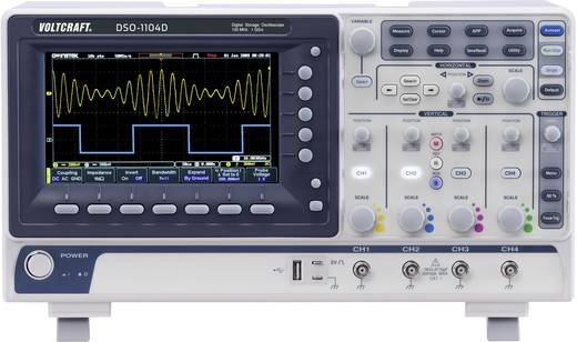 Digitális tárolós oszcilloszkóp, 4 csatornás, 100 MHz, Voltcraft DSO-1104D