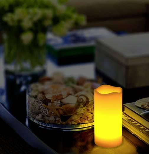 LED-es viaszgyertya, melegfehér fényű 7.5 x 15cm Polarlite LBA-30-010