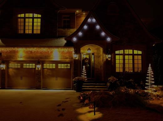 Kültéri fényfüzér, csillagok, 24 V 80 LED, hidegfehér, Polarlite