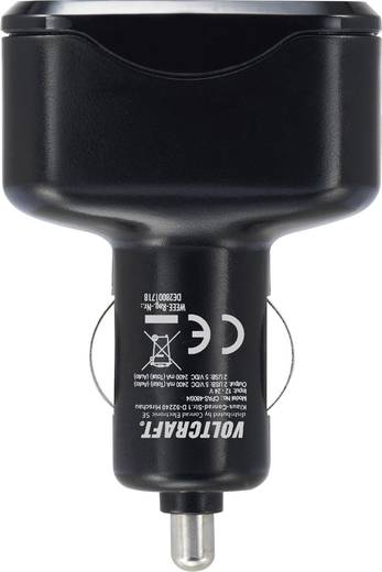 USB töltő készlet, hálózati USB töltő és szivargyújtó USB töltő 4 aljzattal max.4800 mA VOLTCRAFT CPAS-4800/4