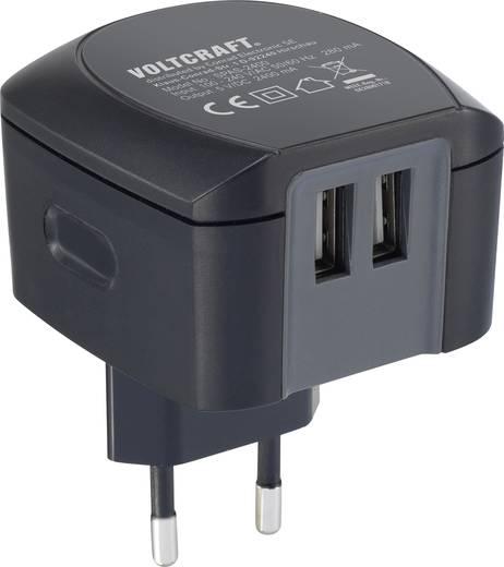 USB-s hálózati töltőadapter, 2 x USB, 2400 mA, Voltcraft SPS-2400