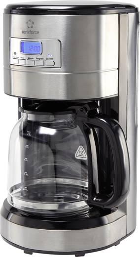 Kávéfőző gép időzítővel, nemesacél/fekete, renkforce CM4276-V